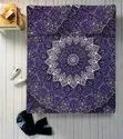 Star Ombre Mandala Printed Cotton Double Bed Sheet