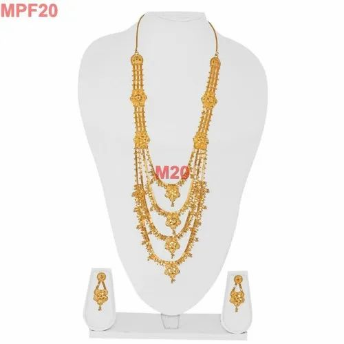 813f5322ed9e3 Indian Gold Plated 3 Step Pendant Necklace Style Jewelry
