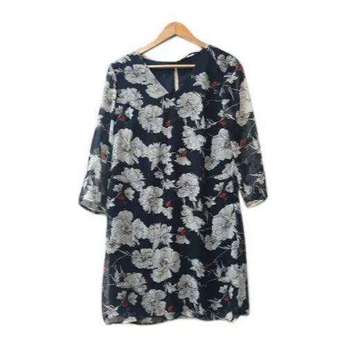 Casual Printed Ladies Rayon Long Top