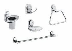Bath Set Of Five Items Full BRASS ( ROLEX )