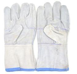 SS & WW Make White Leather Hand Gloves
