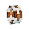 Wood Resin Designed Layered Bangles Bracelets