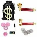 Metal Tobacco Smoking Pipe For Tobacco 3.5 Inch (8cm) Incl. Accessories And Fancy Velvet Pouch