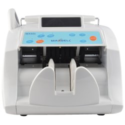 Maxsell Heavy Duty Note Counting Machine With Fake Note Detection, Model - MX50I - White