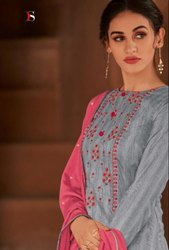 Deepsy Pari Jam Silk Cotton With Embroidery Work Dress Material Catalog Collection