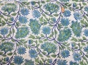 Hand Block Printed Cotton Dress Material Fabric Flower Fabric