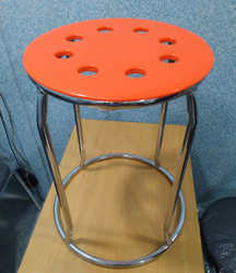 JaiBharti Comfort Steel Stool with Heavy Duty Plastic Seat
