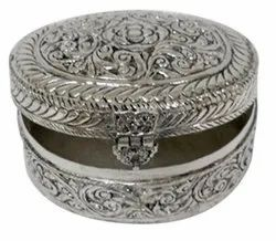 Silver Plated Metal Box