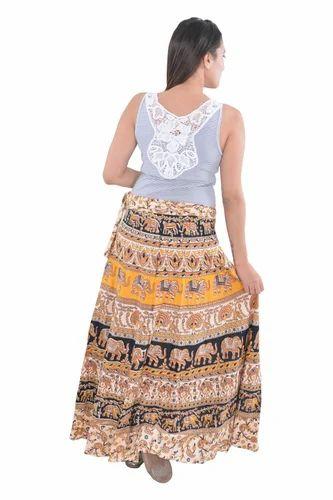 fa6c37409 Women Indian White Round Cotton Mandala Rapron Skirts, Rs 220 /piece ...