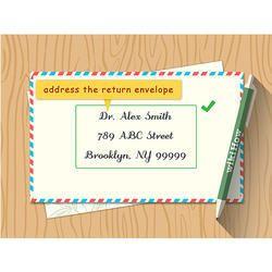 Wedding Card Addresses Label