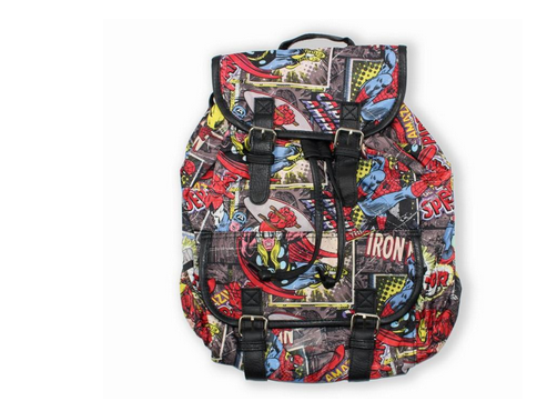 8cee6a7ae203 Multicolor Marvel Comic Slouch Backpack