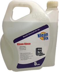 Kleanfix Fragrance Less Klean Rinse Dishwasher Rinsing Aid, Packaging Type: Plastic Can, 5 L