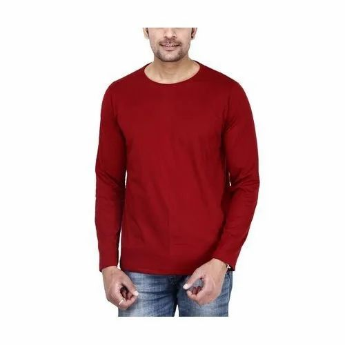 34ebaa623 Gazelles Bold Red Color T-Shirt 100% Cotton at Rs 180 /piece ...