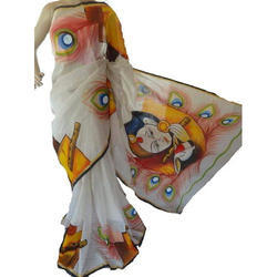 Cotton Hand Paint Sarees