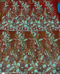 African Net Embroidery fabric