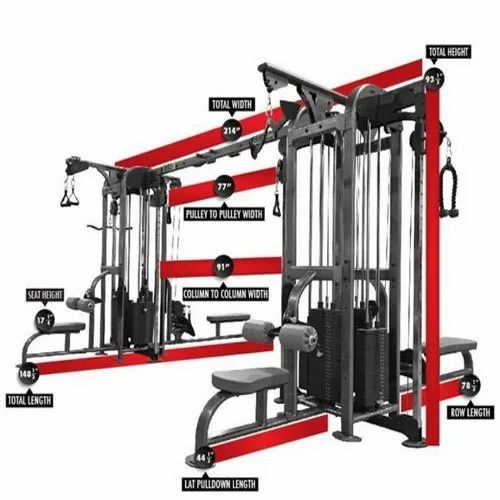8 Station Multi Gym Machine