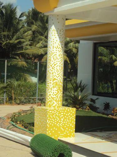 Pillar Gradient Glass Mosaic Tile