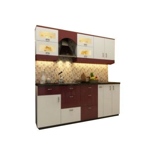 Cream Kitchen Doors: Brown And Cream PVC Kitchen Cabinet Doors, Rs 1450 /square