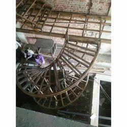 Spiral Industrial Iron Stair Case