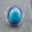 925 STERLING SILVER JEWELRY TURQUOISE GEMSTONE DESIGNER RING WR-5225