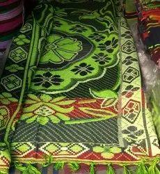 棉花加勒卡地毯,尺寸:90x90英寸