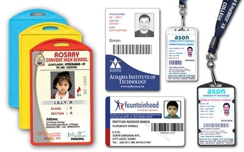 Pvc Rectangular School Id Card Rs  Piece Abhishek Enterprises