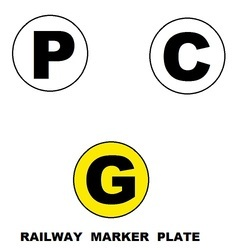 Railway Marker Plate