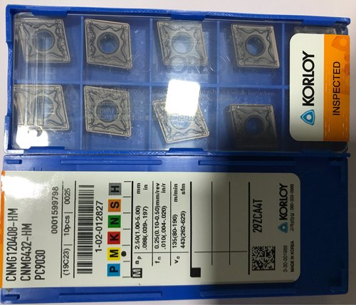 Korloy 10pcs CNMG432-HM CNMG120408-HM PC9030 Carbide Inserts for stainless steel