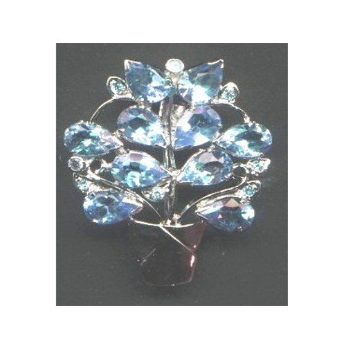 Sky Blue Stone Brooch