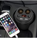 Dual USB Car Charger With Extra 12v Ports