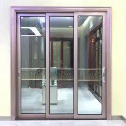 Polished Aluminium Door Partition