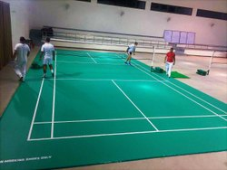 Prefab Synthetic Badminton Court Flooring, 1