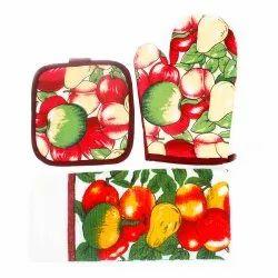 Kitchen Towel, Oven Mitt & Kitchen Coaster - Set Of 3