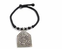 Wadke jewellers Silver Thread Necklace