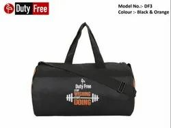 Black & Orange Gym Bag