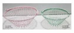 Handknitted Wire Baskets with Handle for Ease In Carrying