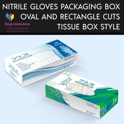 Tissue Style Gloves Packaging Box