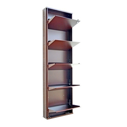 5.5 Feet SS Wall Mount Shoe Rack