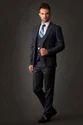Navy Blue Men Western Suit