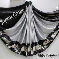 Japan crape Saree