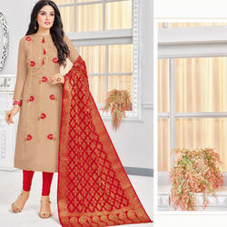 Traditional Banarasi Dress Material