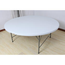6 feet Round Plastic Folding Table, Size: 183 x 74 cm