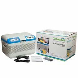 White & Blue Tropicool Portable Car Refrigerator & Warmer 12AD