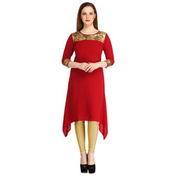 Cottinfab Casual Solid Women's Kurti