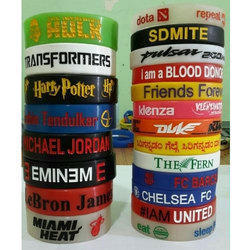 Engraved Color Filed Personalized Silicone Wrist Bands