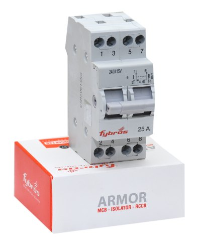25AMP Double Pole MCB Mini Changeover Switch
