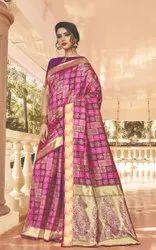 Gray Net Heavy Eid Special Kadampalli Silk Saree, With Blouse Piece, Size: Semi Stitched ( Material )