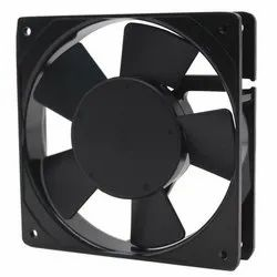 120 W Black Panel Cooling Fan, Size: 4 Inch, 220-240 V
