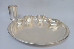 Silver Plated Thali Set Bead