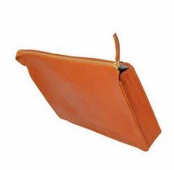 Plain Leather Portfolio - Tan